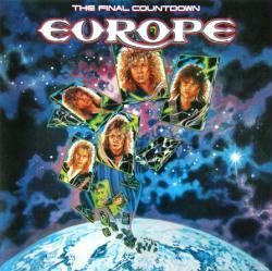 Europe poster: The Final Countdown vintage LP/Album flat (VG)