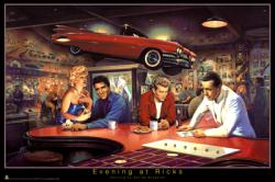 Evening at Rick's poster [James Dean, Marilyn Monroe, Bogart & Elvis]