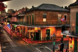 Bourbon Street, New Orleans poster (36x24) Evening On Bourbon