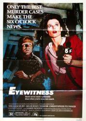 Eyewitness poster [William Hurt, Sigourney Weaver] original 27x41