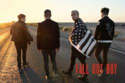 Fall Out Boy poster: FOB with American Flag (36x24)