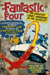 Fantastic Four poster: Comic Book Cover Issue 3 (24 X 36) Marvel