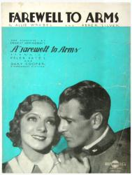 Farewell To Arms vintage sheet music [Helen Hayes, Gary Cooper] 1933