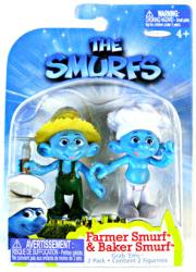 The Smurfs: Farmer Smurf & Baker Smurf figures (JAKKS Pacific/2011)