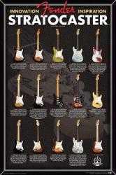 Fender Stratocaster poster: Evolution (24 X 36) Guitar