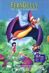 Ferngully: The Last Rainforest movie poster (1992) 26x40 video version