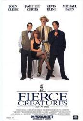 Fierce Creatures poster [John Cleese/Jamie Lee Curtis/Kevin Kline]