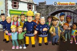 Fireman Sam poster: The Cast (36x24) animated TV series
