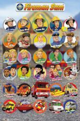 Fireman Sam poster: Characters (24x36) animated TV series