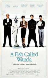 A Fish Called Wanda movie poster [Cleese, Kline] original 27 X 41