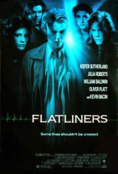 Flatliners movie poster [Julia Roberts, Kiefer Sutherland] 27 X 40