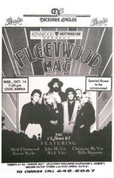 Fleetwood Mac poster: 11 X 17 handbill-style 1987 concert repro poster