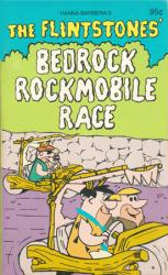 The Flintstones' Bedrock Rockmobile Race paperback book (1980)