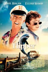 Flipper movie poster [Paul Hogan & Elijah Wood] Good condition