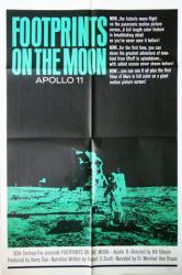 Footprints on the Moon: Apollo 11 movie poster (1969) original 27x41