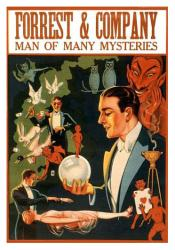 Forrest & Company magic poster: Man of Many Mysteries (18 X 24)