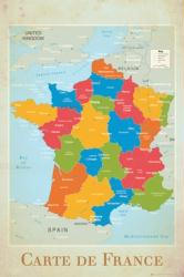 France poster (24x36) Map of France/Carte de France