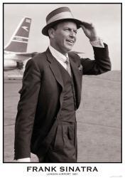 "Frank Sinatra poster: London Airport 1961 (23 1/2"" X 33"")"