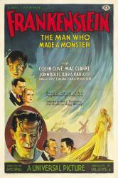 Frankenstein movie poster [Boris Karloff, Colin Clive] 11x17