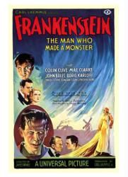 Frankenstein movie poster (1931) [Boris Karloff & Colin Clive] 18 X 24