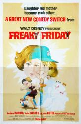 Freaky Friday movie poster (1976) [Jodie Foster] Disney original 27x41