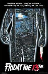 Friday the 13th movie poster (1980) 22x34