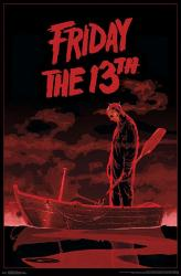 Friday the 13th movie poster: Jason in Boat (1980) 22x34