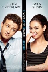 Friends With Benefits movie poster /Justin Timberlake/Mila Kunis 27x40