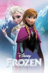 Frozen movie poster: Anna and Elsa (24 X 36) Disney animated