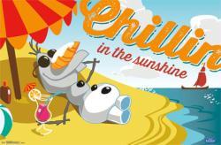 Frozen movie poster: Olaf Chillin' in the Sunshine (34x22) Disney
