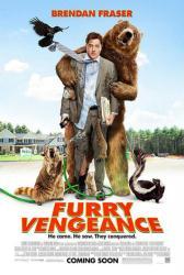 Furry Vengeance movie poster [Brendan Fraser] 27x40 VG