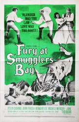 Fury at Smugglers' Bay movie poster (1961 pirate film) original 27x41