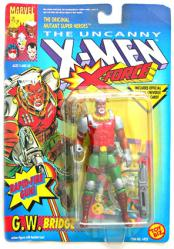 The Uncanny X-Men X-Force: G.W. Bridge action figure (ToyBiz/1992)