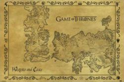 Game of Thrones poster: Antique Map of Westeros & Essos (36 X 24)