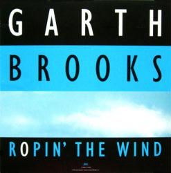 Garth Brooks poster: Ropin' the Wind vintage LP/Album flat