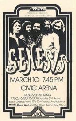 Genesis poster: 11'' X 17'' repro 1977 concert handbill-style