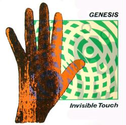 Genesis poster: Invisible Touch vintage LP/Album flat (1986)