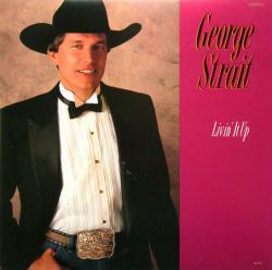 George Strait poster: Livin' It Up vintage LP/Album flat
