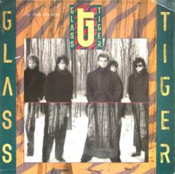 Glass Tiger poster: The Thin Red Line vintage LP/Album flat