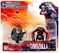 """Godzilla: Godzilla & Female Muto 2"""" Chibi-style figures (Bandai/2014)"""