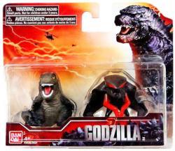 """Godzilla: Godzilla & Male Muto 2"""" Chibi-style figure set (Bandai/2014)"""