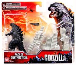 Godzilla: Godzilla Pack of Destruction figure set (Bandai/2014)