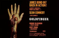 Goldfinger movie poster [Sean Connery as James Bond 007] 36'' X 24''
