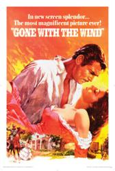 Gone With the Wind movie poster [Clark Gable/Vivien Leigh] 24'' X 36''