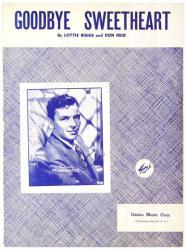 Goodbye Sweetheart vintage sheet music [Frank Sinatra] 1951