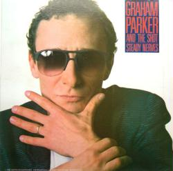 Graham Parker and the Shot poster: Steady Nerves vintage LP/Album flat