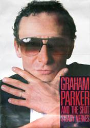 "Graham Parker and the Shot poster: Steady Nerves (25 1/4"" X 36"" promo)"