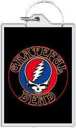 "The Grateful Dead keychain: Steal Your Face logo (1 1/2"" X 2 1/4"")"