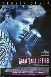 Great Balls of Fire! movie poster [Dennis Quaid] 1989 original 27x40