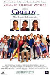 Greedy movie poster [Michael J. Fox, Kirk Douglas. Nancy Travis] 27x40